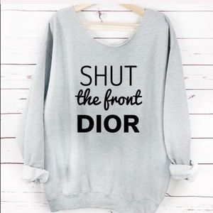 Sweaters - NEW Gray Shut the Front Dior Sweater, Womens
